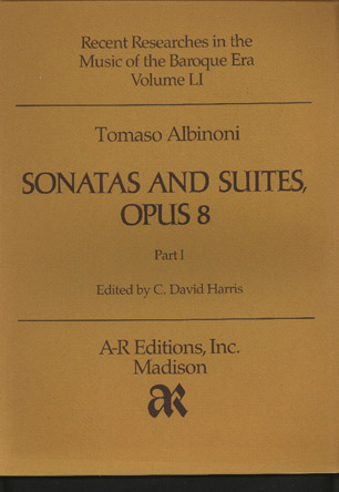 Image for Sonatas and Suites, Opus 8 for Two Violins, Violoncello & Basso Continuo