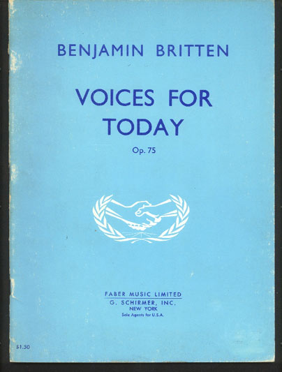 Image for Voices for Today  Op.75  Anthem for Chorus (Men, Women & Children)