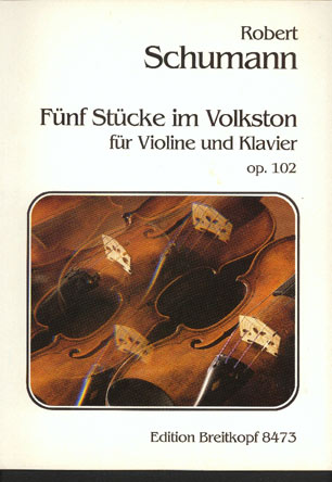 Image for Funf Stucke Im Volkston Fur Violine Und Klavier Op 102