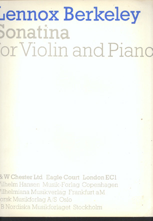 Image for Sonatina for Violin and Piano
