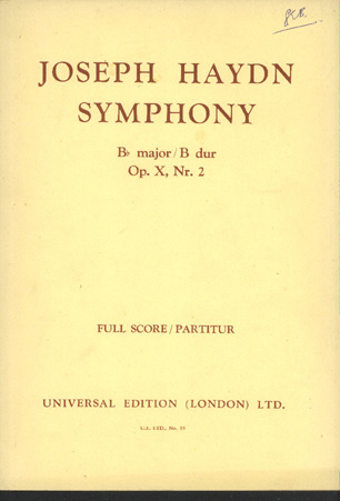 Image for Symphony in Bb major  op X no 2