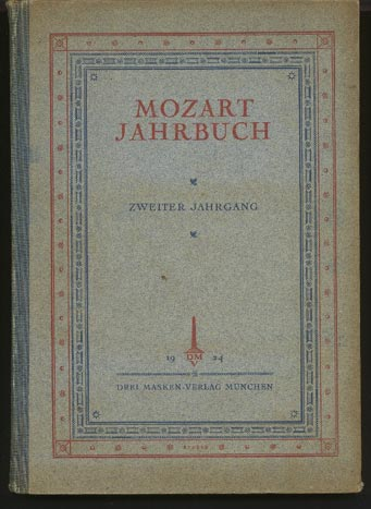 Image for Mozart Jahrbuch