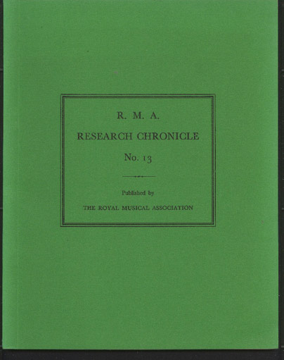 Image for R. M. A. Research Chronicle No 13