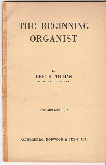 Image for The Beginning Organist