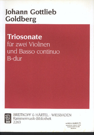 Image for Triosonate Fur Zwei Violinen Und Basso Continuo B-Dur (Triosonata for Two Violins and Continuo in B Major)