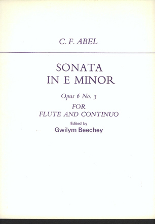 Image for Sonata in E Minor Opus 6 No 3 for Flute and Continuo