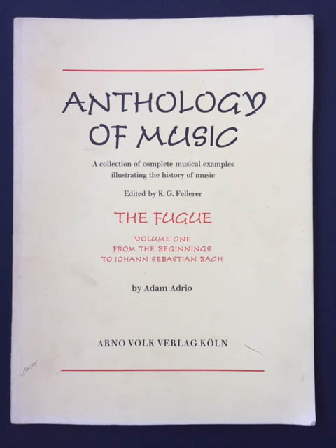 Image for The Fugue Vol 1   from the Beginnings to Johann Sebastian Bach