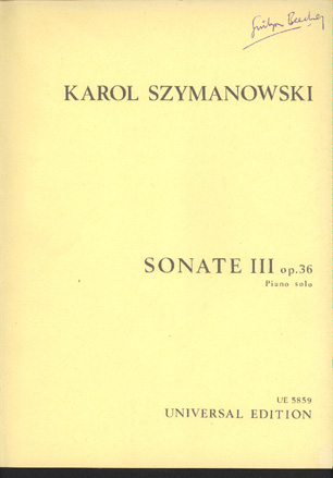 Image for Sonate III Op 36 Piano Solo