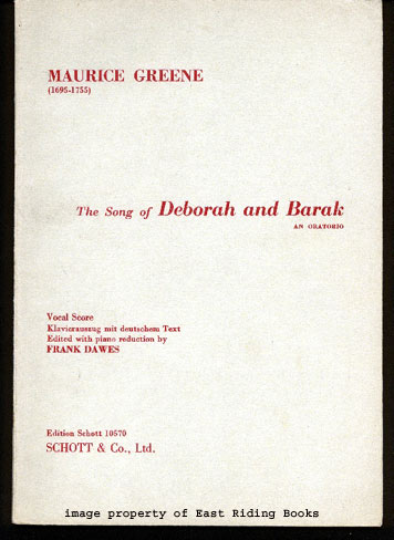 Image for The Song of Deborah and Barak - An Oratorio