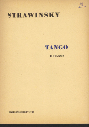 Image for Tango  (for two pianos)