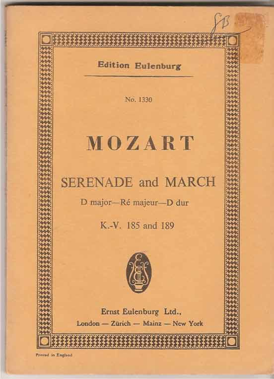 Image for Serenade and March: D Major K 185 & 189