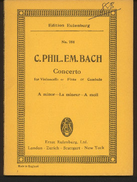 Image for Concerto for Violoncello or Flute or Cembalo and String Orchestra in a Minor