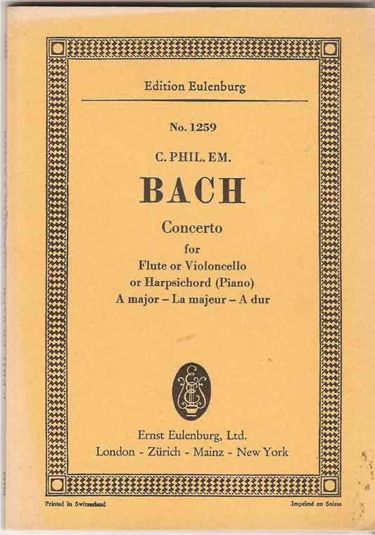 Image for Concerto for Violoncello or Flute or Harpsichord (Piano) and String Orchestra: a Major