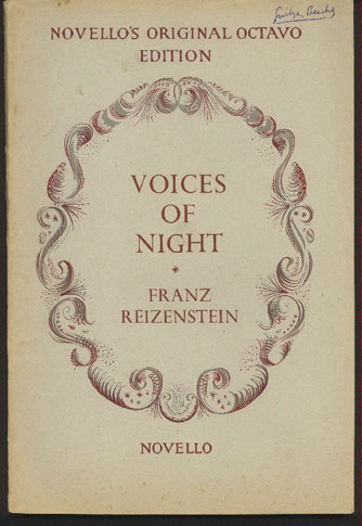 Image for Voices of Night: Cantata for Soprano and Baritone Soli, Chorus and Orchestra