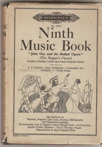 Image for Ninth Music Book Containing John Gay and the Ballad Opera [The Beggar's Opera].