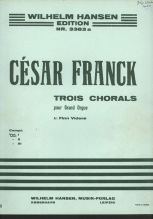 Image for Trois Chorals Pour Grand Orgue Vol 1