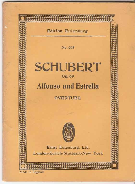 Image for Alfonso and Estrella Overture. Op.69