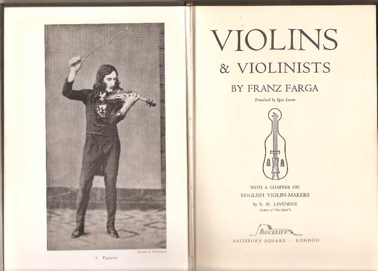 Image for Violins and Violinists: with a Chapter on English Violin-Makers By E.W. Lavender