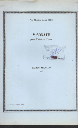 Image for Deuxieme Sonate Pour Violon Et Piano 2nd Sonata for Violin and Piano