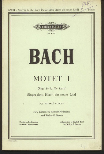Image for Motet I  Sing Ye to the Lord  for Mixed Voices