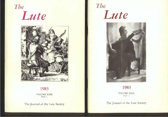 Image for The Lute Society Journal Volume XXIII Parts 1 & 2