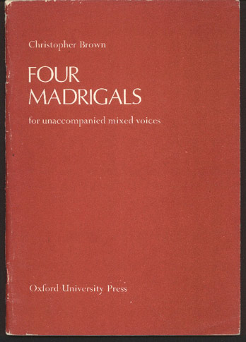 Image for Four Madrigals for Unaccompanied Mixed Voices Op.29