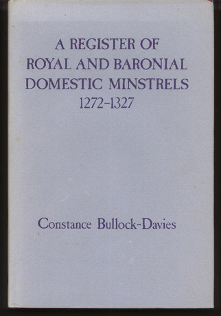 Image for A Register of Royal and Baronial Domestic Minstrels 1272-1327