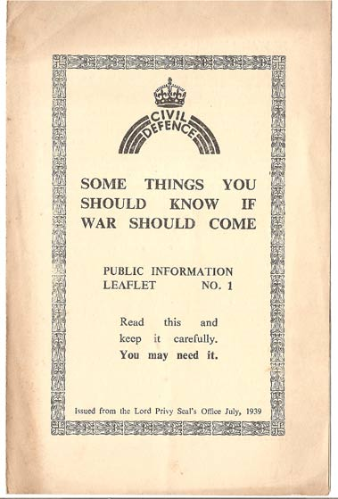 Image for Some Things You Should Know if War Should Come: Public Information Leaflet No I