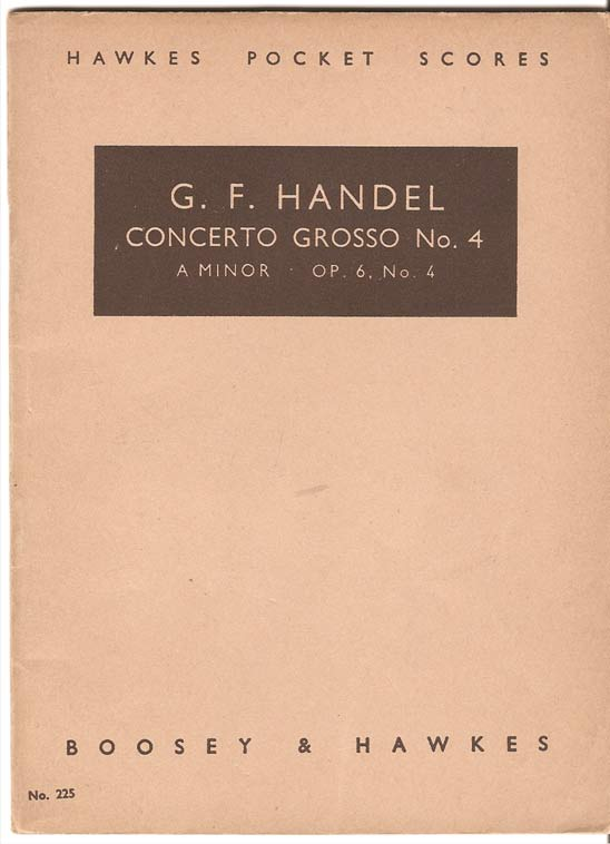 Image for Concerto Grosso No 4 in a Minor Op 6 No 4