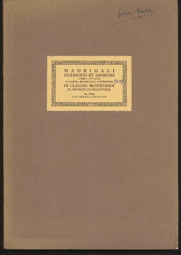 Image for Complete Edition Vol 8 Ia Parte: Madrigali Guerrieri Et Amorosi (Madrigals)
