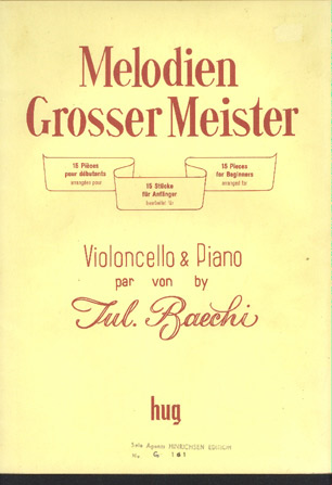 Image for Melodien Grosse Meister: Violoncello & Piano