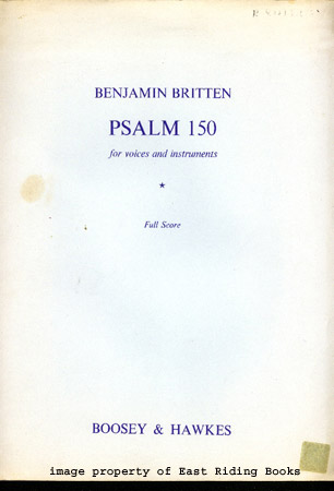 Image for Psalm 150 for Voices and Instruments