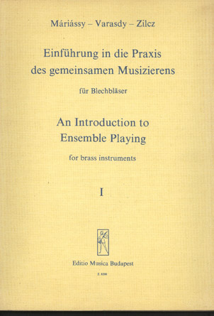 Image for Einfuhrung in Die Praxis Des Gemeinsamen Musizierens Fur Blechblaser (An Introduction to Ensemble Playing for Brass Instruments) I