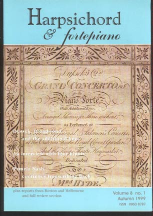 Image for Harpsichord and Fortepiano Volume 8 No 1 Autumn 1999