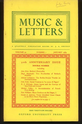 Image for Music & Letters. A Quarterly Publication Volume 50