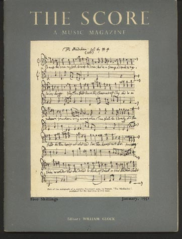 Image for The Score: A Music Magazine January 1951 Number 4