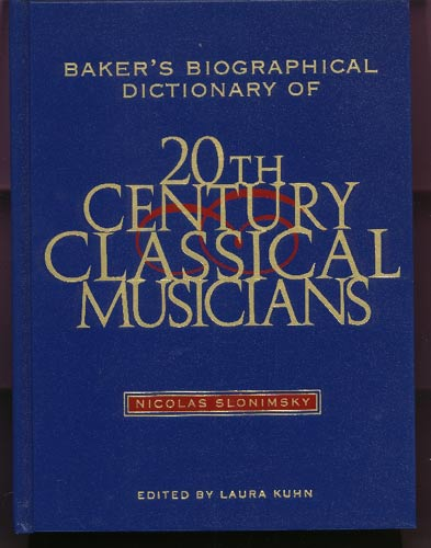 Image for Baker's Biographical Dictionary of Twentieth-Century Classical Musicians