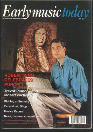 Image for Early Music Today Oct/nov 1994 Volume 2 No 5