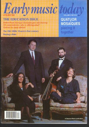 Image for Early Music Today April/may 1995 Volume 3 No 2