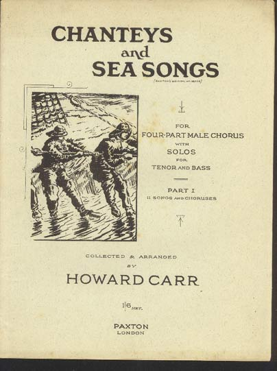 Image for Chanteys and Sea Songs, for four-part male chorus with solos for tenor and bass  Part 1  11 Songs and Choruses