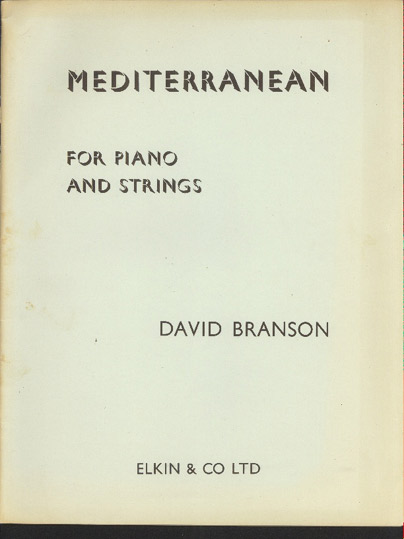 Image for Mediterranean  for Piano and Strings