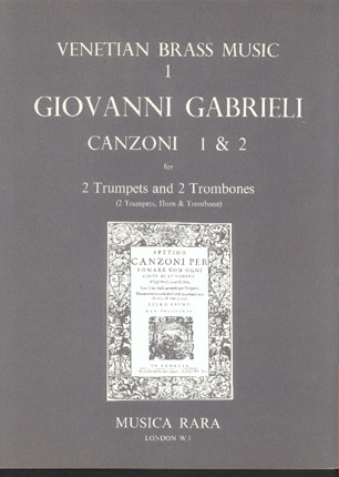 Image for Canzoni 1 & 2 for 2 Trumpets and 2 Trombones (2 Trumpets, Horn & Trombone)