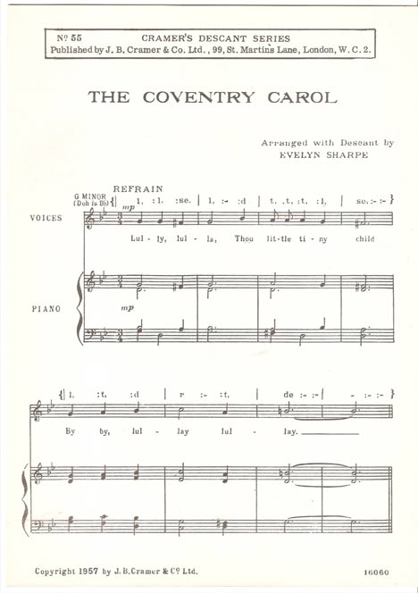 Image for The Coventry Carol