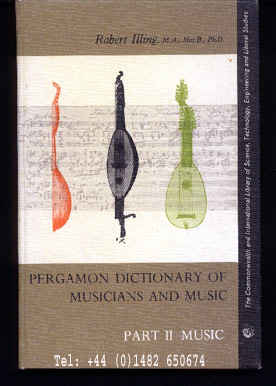 Image for Pergamon Dictionary of Musicians and Music.  Part II: Music