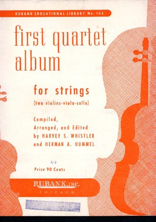 Image for First Quartet Album for Strings (Two Violins-Viola-Cello)