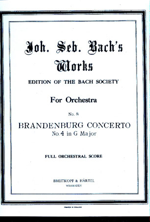 Image for Brandenburg Concerto No 4 in G Major
