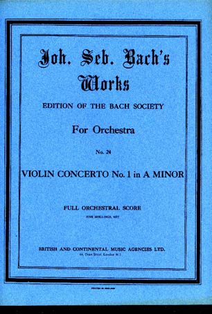 Image for Violin Concerto No. 1 in A Minor