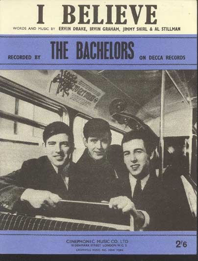 Image for I Believe Recorded by the Bachelors on Decca Records
