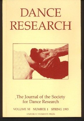 Image for Dance Research. Volume XI Number 1, Spring 1993