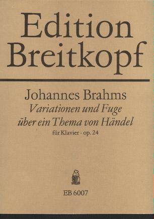 Variationen Und Fuge Uber Ein Thema Von Handel Fur Klavier. Op.24